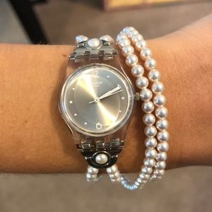 SWATCH pearl wrap watch